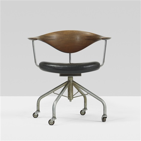Early Swivel Office Chair By Hans J Wegner On Artnet