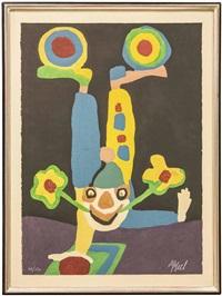 circus, portfolio i. cirque miroir du monde (nmr 10 av 10) by karel appel