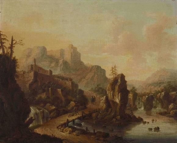 felsige flusslandschaft by roelandt savery