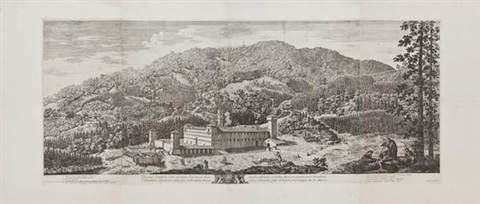 view of the monastery of vallombrosa near florence by antonio cioci