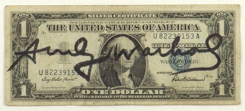 one dollar bill by andy warhol