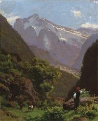 valle inferiore di gundelwald, effetto di mattino by pietro senno