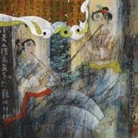 奏乐图 by xu huiquan