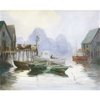 harbour scene by william edward de garthe