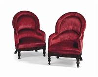 paire de fauteuils crapauds by renzo mongiardino