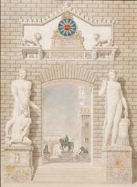 capriccio di piazza della signoria by auguste henri victor grandjean
