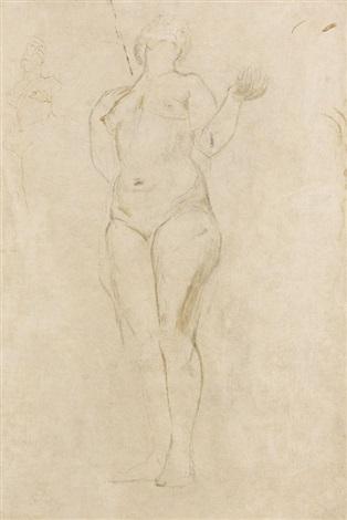 stehender weiblicher akt by henry moore