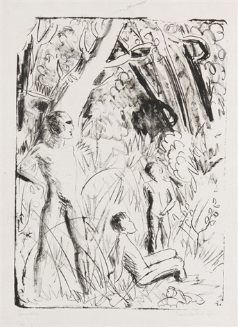 figurenskizze by erich heckel