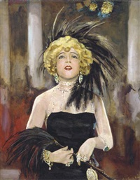 mae murray in merry widow (metro-goldwyn, 1925) by johannes van der linde