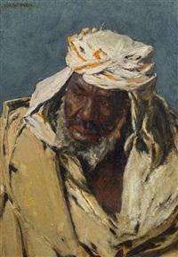 porträt eines beduinen by johann victor kramer