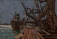 durban harbour by clément (joseph charles louis) sénèque