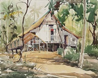 kampung in tanah merah by lim cheng hoe