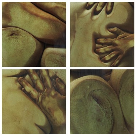 closed contact a 3 others set of 4 works collab w glenn luchford by jenny saville