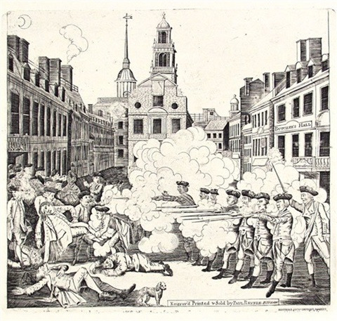 the bloody massacre perpetrated in king street boston on march 5th by a party of the 29th regiment by paul revere