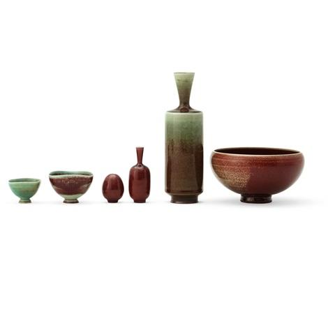 A Set Of Six Miniature Vases And Bowls By Berndt Friberg On Artnet