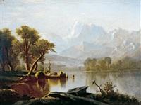 rocky mountains by albert bierstadt
