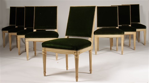 Louis XVI style dining chairs 8 works by Maison Jansen on artnet