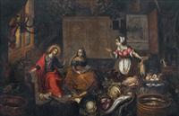 christus bei maria und martha by joost goemare