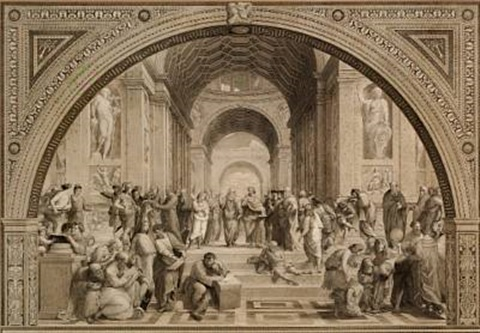 the school of athens (after raphael) by louis jacoby