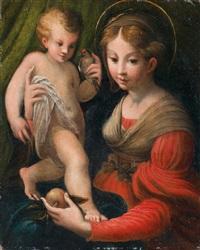madonna della mela by parmigianino