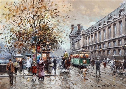 quai des tuileries paris by antoine blanchard