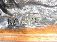 cheval attaqué par un tigre by antoine-louis barye
