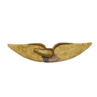 american eagle wall plaque by ivah w. spinney