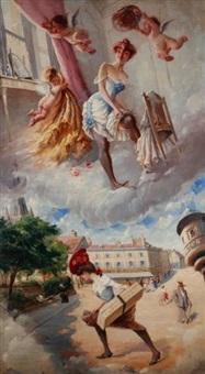 le rêve de la lorette by adolphe léon willette