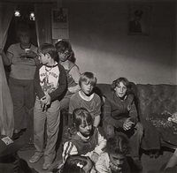 teenage couples, marin's creek, pa. (+ birthday party children, martin's creek, pennsylvania; 2 works) by larry fink