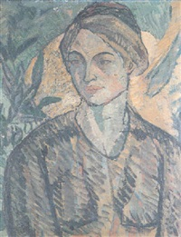 portrait of a young woman by frederick etchells