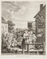 the four times of the day (5 works) by william hogarth