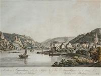 ansicht von astmannshausen ...nebst den schlössern bauzberg und falkenburg (after l. janscha) by johann ziegler