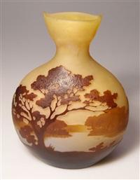 vase landschaft by émile gallé