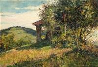 meriggio estivo sul colle - cappelletta by lorenzo delleani