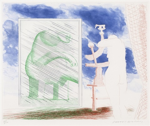 a picture of ourselves from the blue guiter by david hockney