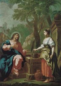 christus und die samariterin am brunnen by bartholomäus altomonte