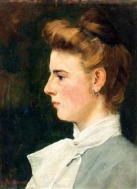 portret van henriette klasina arntzenius (1892-1911) by floris arntzenius