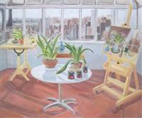studio interior by jane freilicher