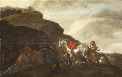 resting the horses by pieter wouwerman