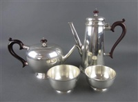 coffee and tea group (set of 4) (+ 2 others; 6 works) by adie brothers (co.)
