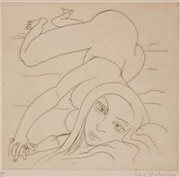 anna - woman on a bed by brett whiteley