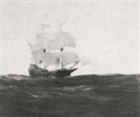 spanish treasure ship under full sail by john p. benson