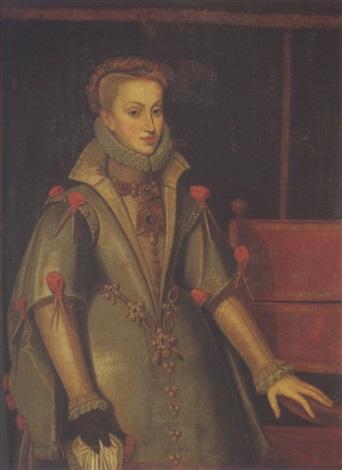 portrait of anne of austria by bartolomé gonzalez