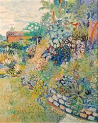 garden in summer by fred yates