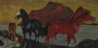 pferde am wasser by walter teutsch