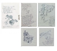 birth of arture-letter-dessins (5 works) by yuksel arslan