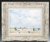 figures on a beach by frederick mcduff