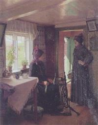 interior med fanokoner by aage sofus exner