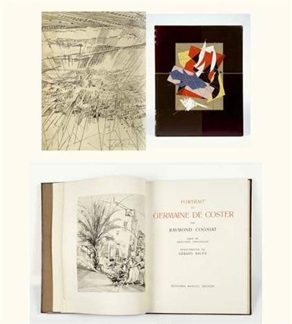 portrait de germaine de coster bk w 26 works frontispice text by r cogniat by germaine marguerite de coster