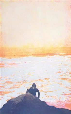 surfer from 100 years ago by peter doig